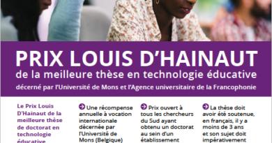 Appel à candidatures pour le Prix Louis D'Hainaut de la meilleure thèse en technologie éducative édition 2020
