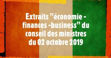 Conseil des ministres du 02 10 2019