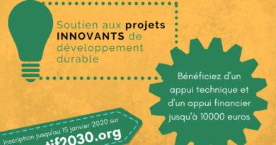 Appel à projets pour l'atteinte des Objectifs de développement durable : Postuler avant le 15 janvier 2020 et bénéficier de 10 000 € pour financer votre projet