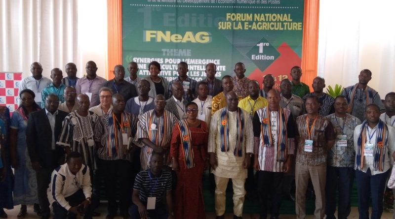Participants à la cérémonie d'ouverture de e-Agriculture Burkina Faso