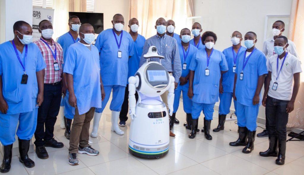 Cérémonie de réception des robots