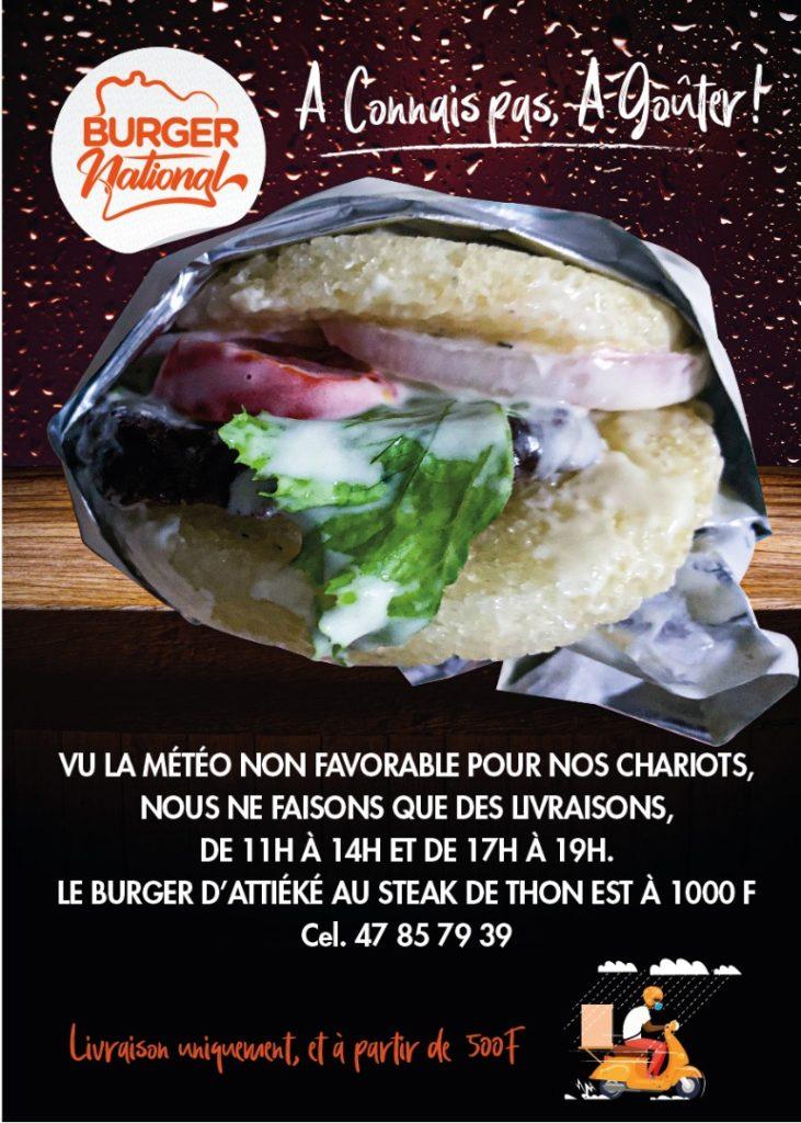 Burger National, sur livraison uniquement