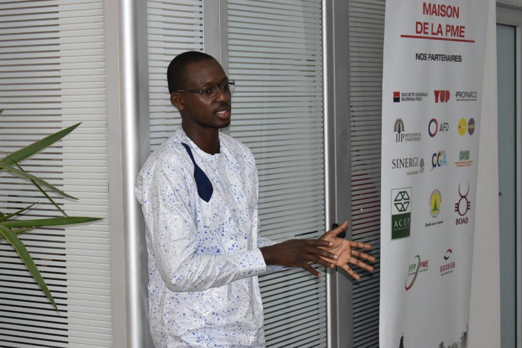 Yann TOE, responsable de La Maison de la PME Burkina Faso