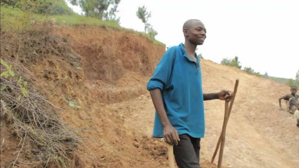 Emmanuel Niringiyimana sur son chantier