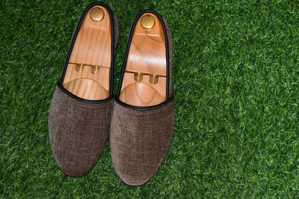 Chaussures Hana, faites à base de pagne tissé