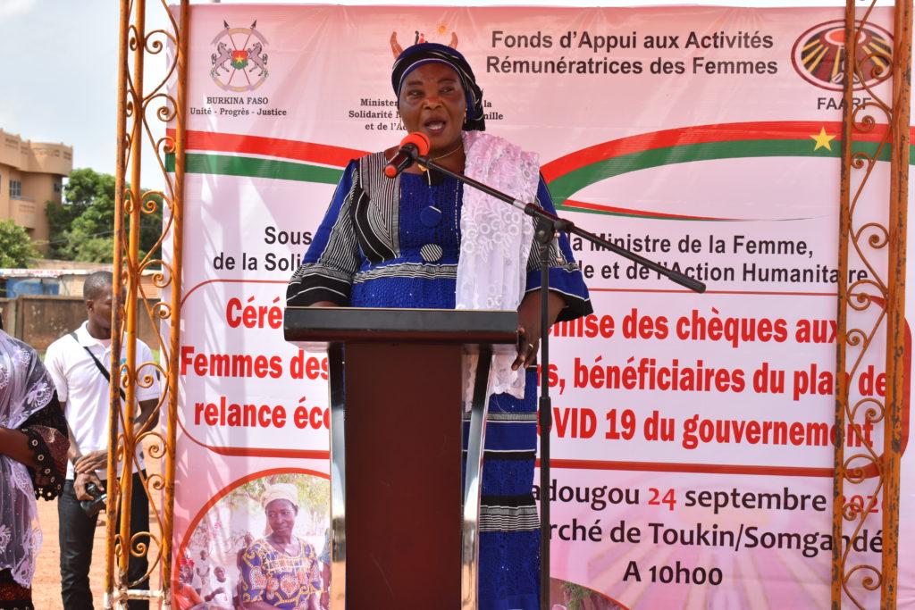Halimata Kaboré, représentante des bénéficiaires