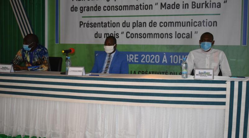 Présidium de la restitution de la stratégie Made In Burkina