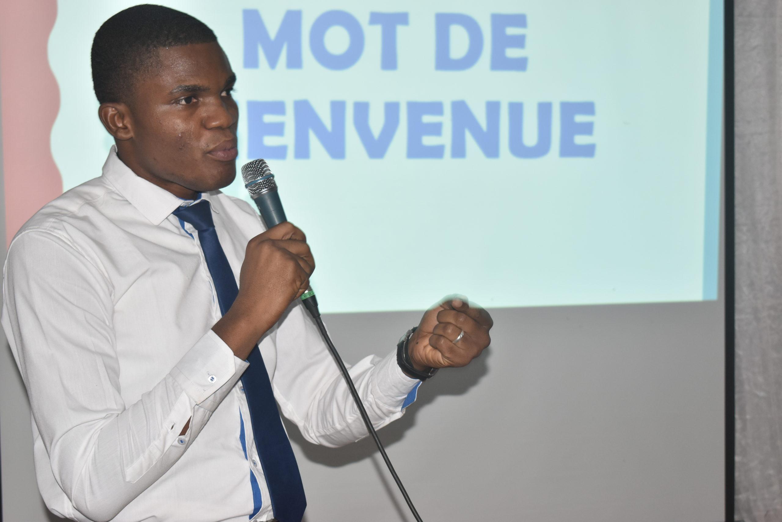 Saïdou SANOU, DG de Begotech Burkina souhaitant la bienvenue à leurs partenaires